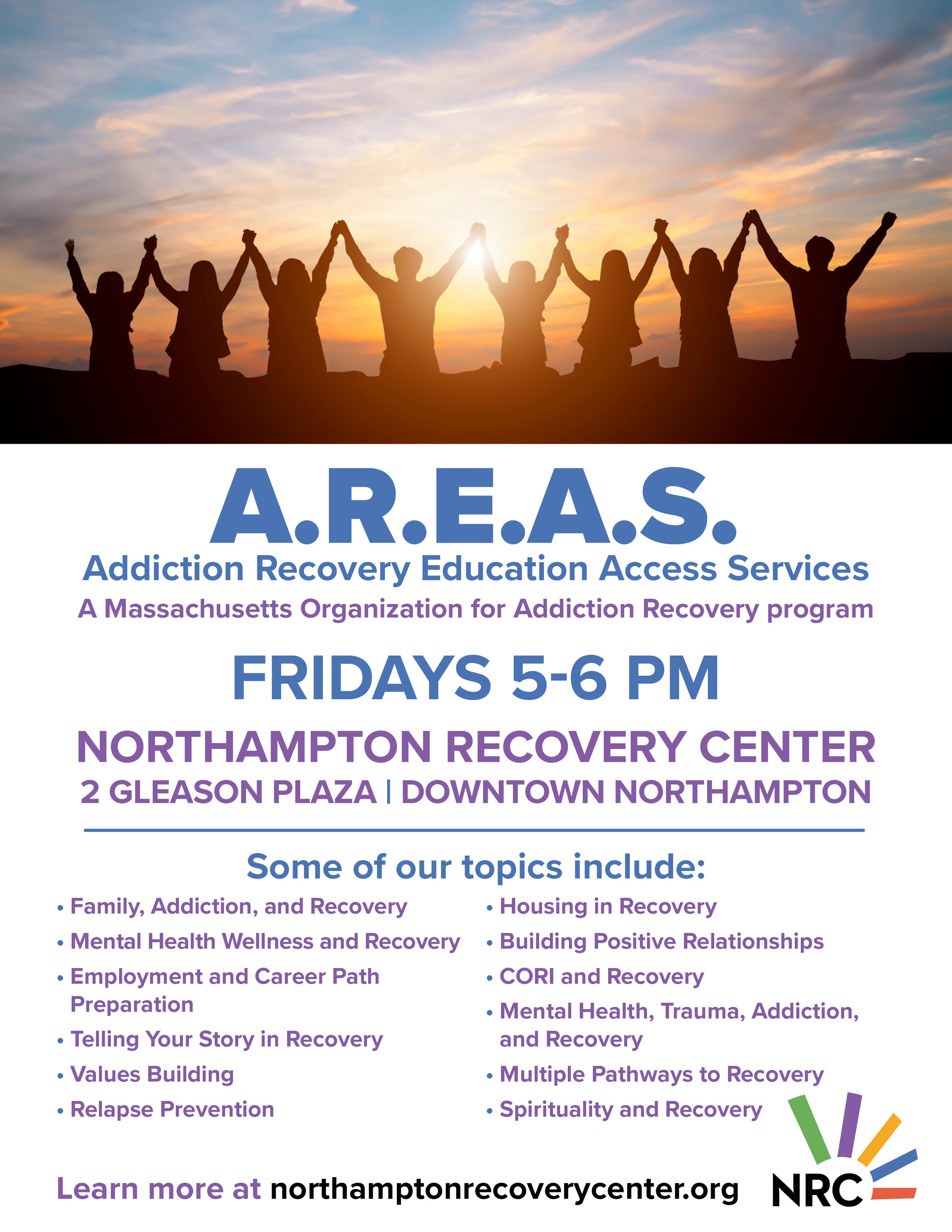 FREE recovery-based curriculum in a group discussion format  Peer-to-peer facillitated  Topics chosen by group participants  Help solving practical problems  Strengthen recovery coping & relapse prevention skills  Information, resources & decision-making support  Leadership development  Opportunities for involvement with MOAR (Massachusetts Organization for Addiction Recovery) in a personal way