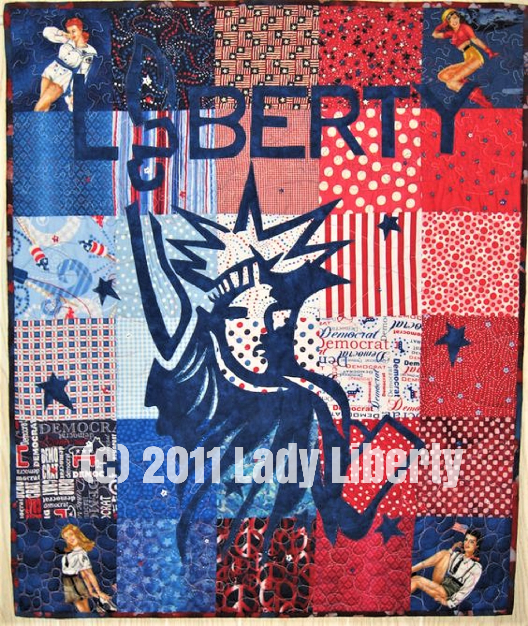 This is the first 4th of July quilt I made several years ago.
