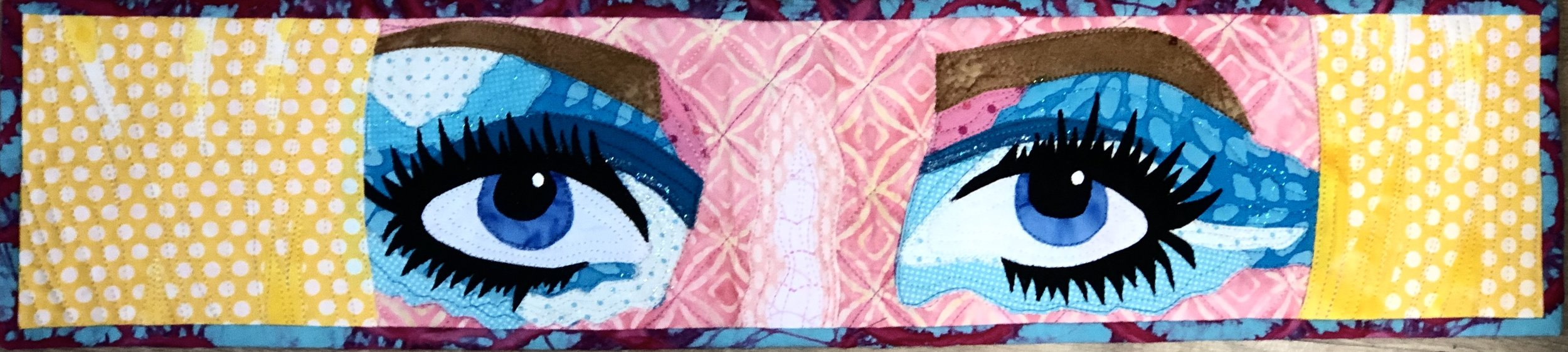 This is entry number 2 based on my 2010 quilt Bubbly Blonde. It was a large quilt so I did not redraw it.