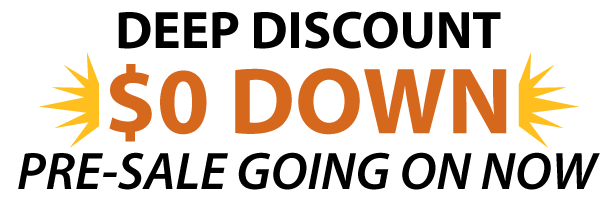 Enroll during Pre-Sale for DEEP DISCOUNT of $0 Down. Click the link below to sign up online or visit our Pre-Sale space in in the old Zales store in the Steeplegate Mall, Concord.