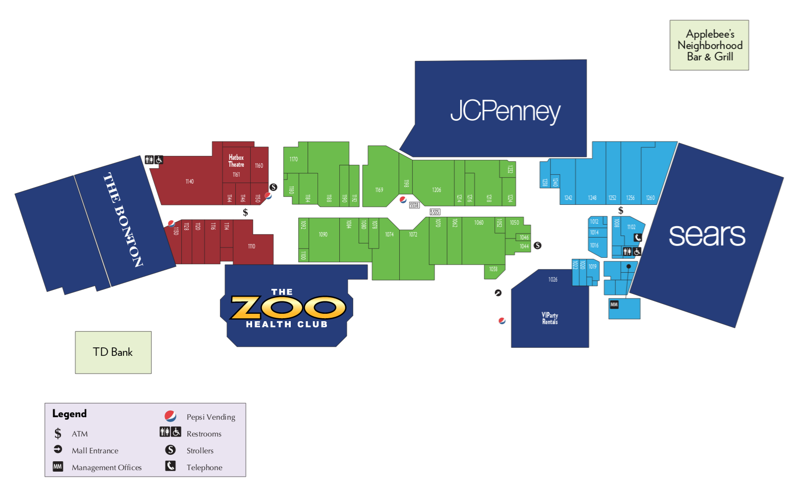 The Zoo Health Club Concord, NH is located in the Steeplegate Mall at 270 Louden Road, Concord, NH. Visit the pre-sale office to sign up early.