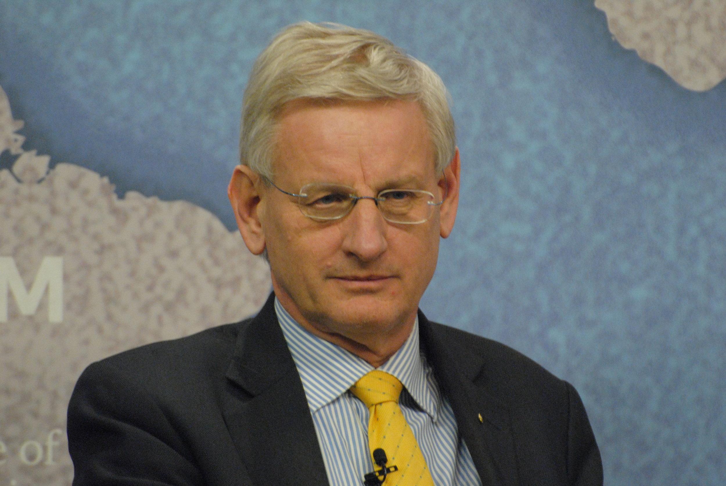 Carl Bildt - Rootsi peaminister, välisminister