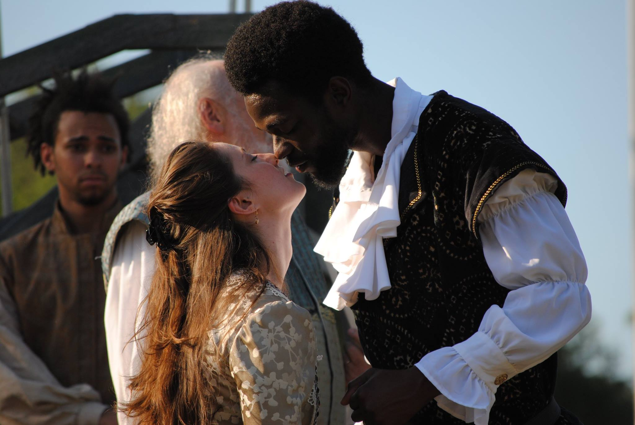 Greater Hartford Shakespeare Festival 2016 production of  Othello , featuring Jovan A. Davis and Juliana Bearse.