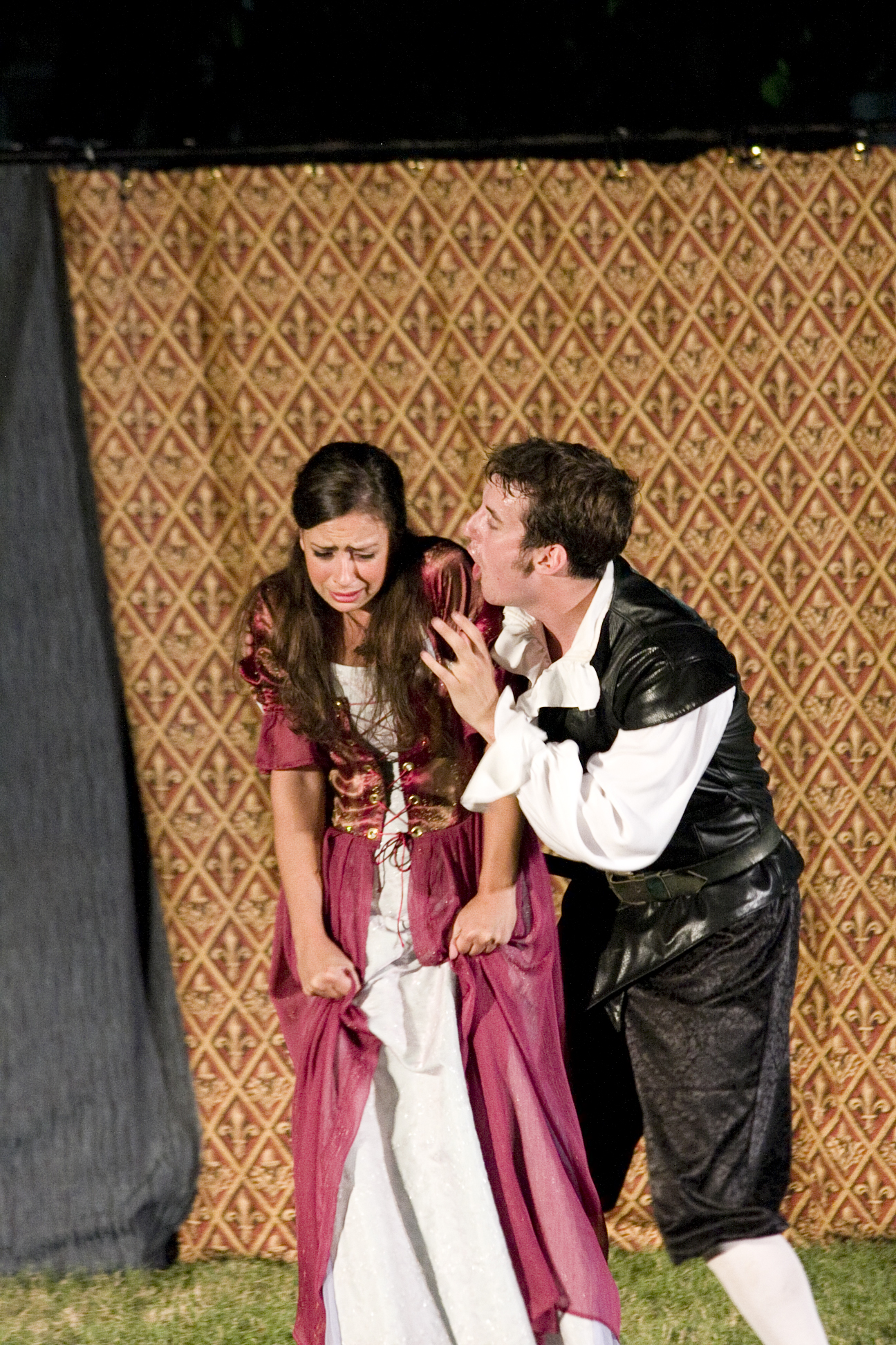 Greater Hartford Shakespeare Festival 2008 production of  Hamlet , featuring Amanda Tudor and Rob Cunliffe.