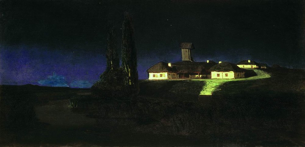 Ukrainian night (painting by Arkhip Kuindzhi, 1876)