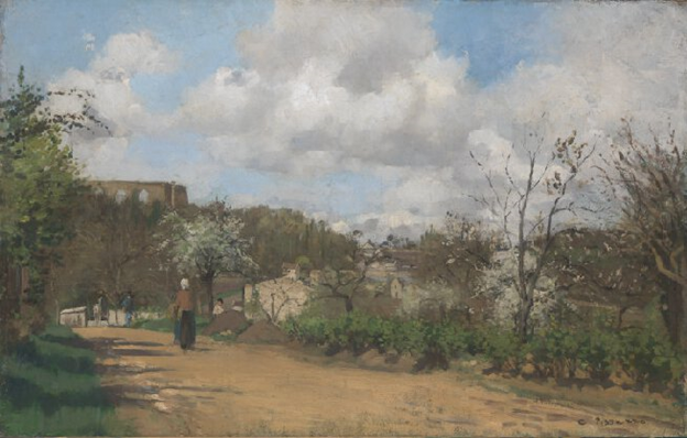 Camille Pissarro,  View from Louveciennes , 1870, National Gallery
