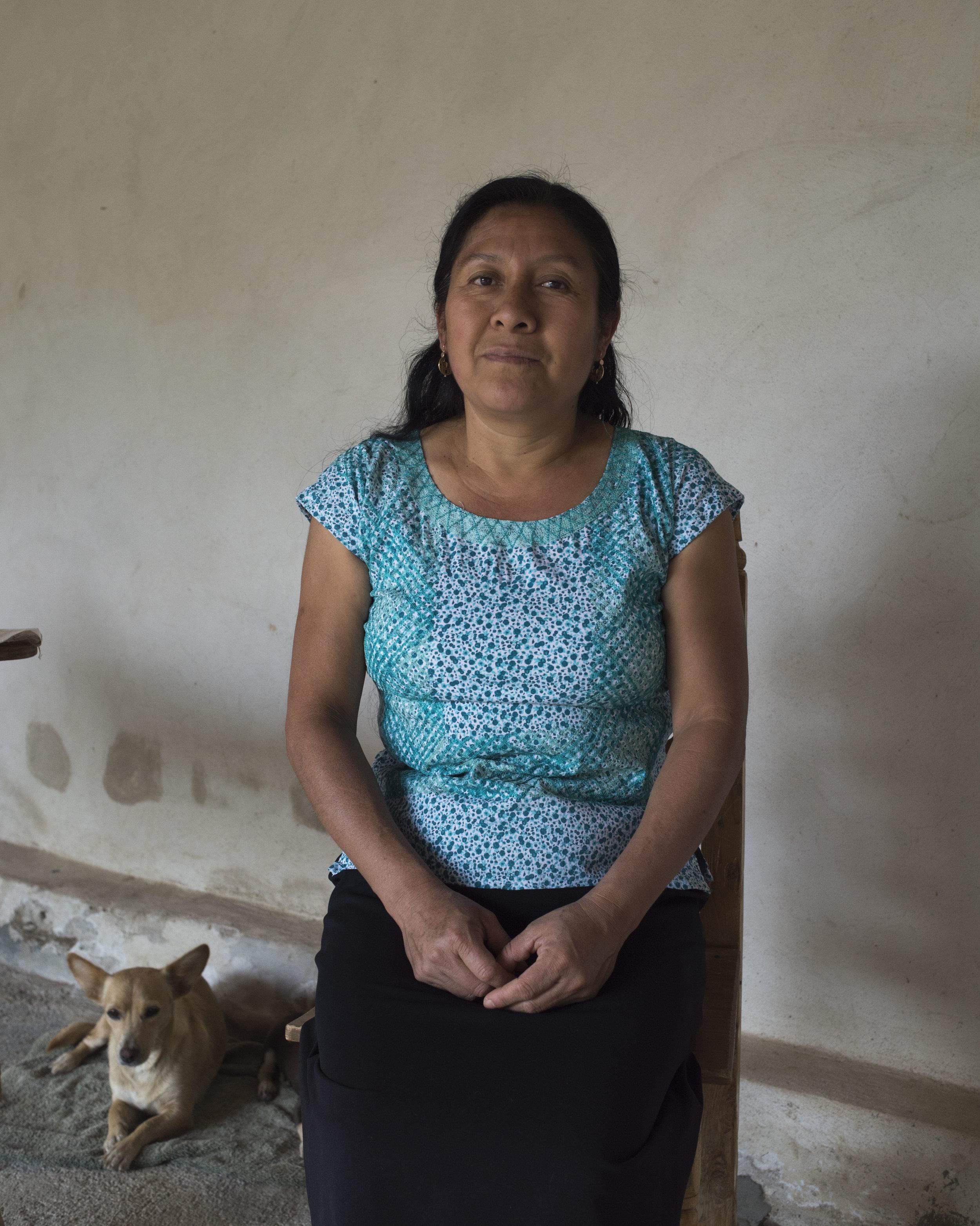 Enedina Gonzalez Alavez, Teotitlan, OAX.