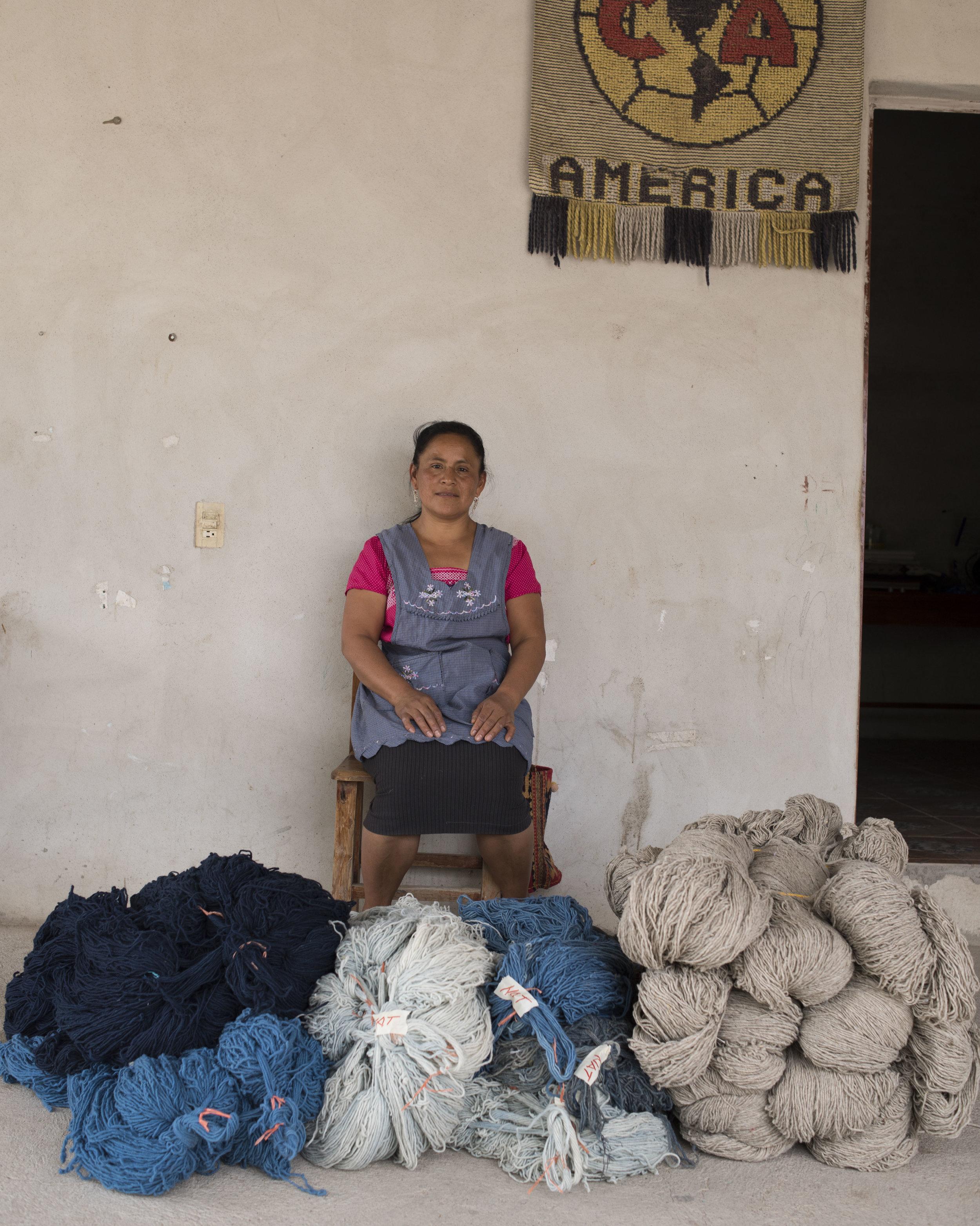 Delfina Ruiz Bazan, Teotitlan, Oax.