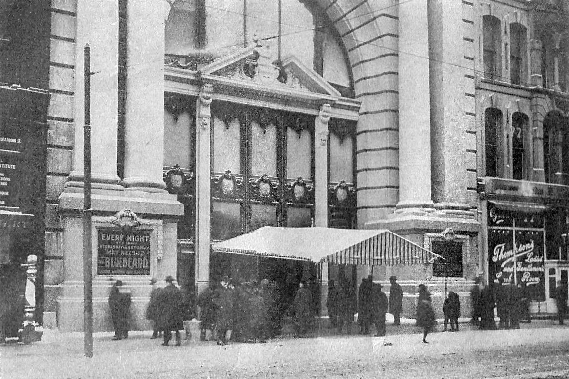 The Iroquois theatre before the tragic 1903 fire.