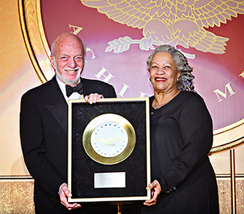 Broadway_director_Harold_Prince_receives_the_Golden_Plate_award_from_Nobel_laureate_Toni_Morrison_at_the_American_Academy_of_Achievement's_46th_annual_International_Achievement_Summit_in_Washington,_D.C._on_Saturda.jpg