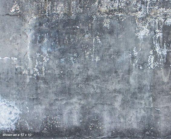 Weathered Cement Wall 12'w x 10'h