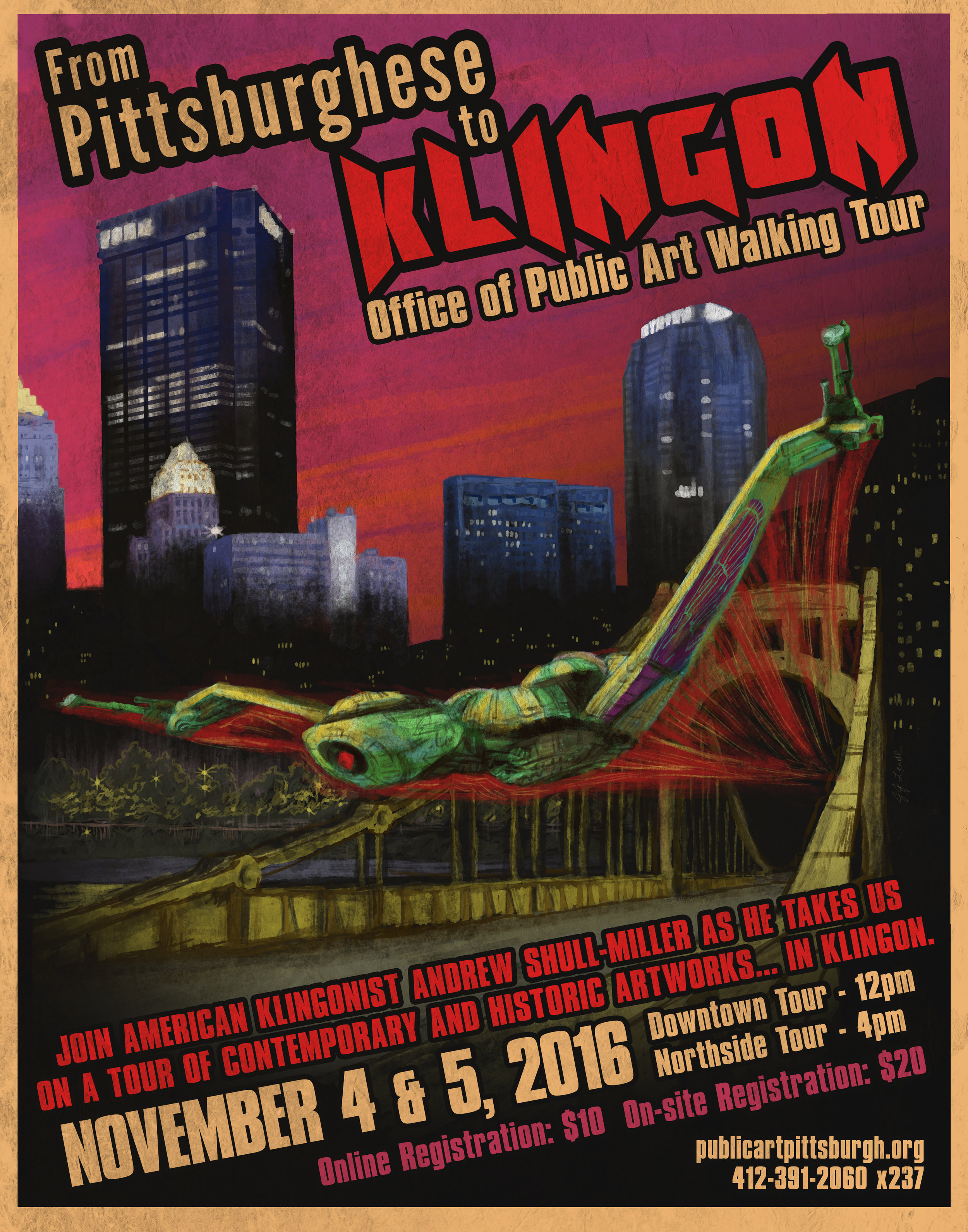 From Pittsburghese to Klingon Event Flyer