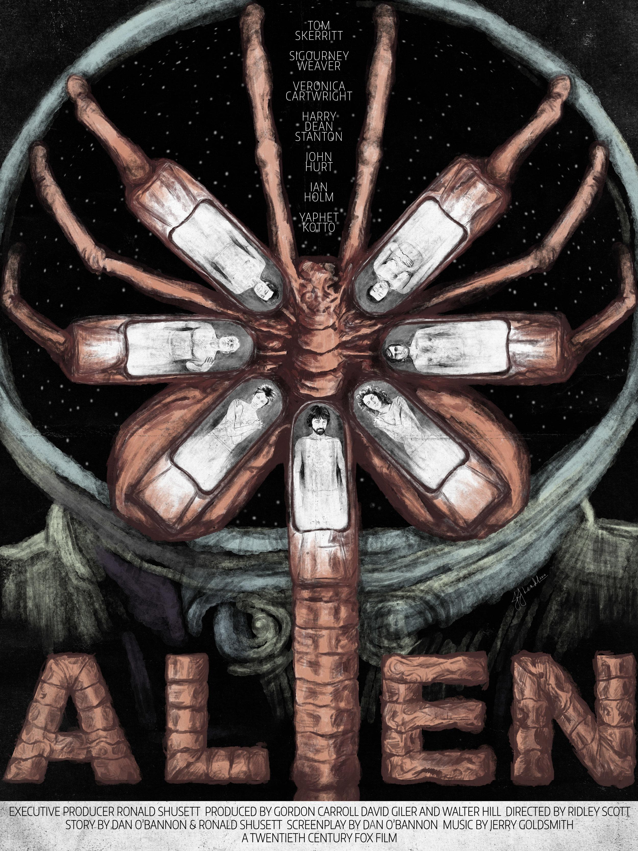 Alien Retro Poster