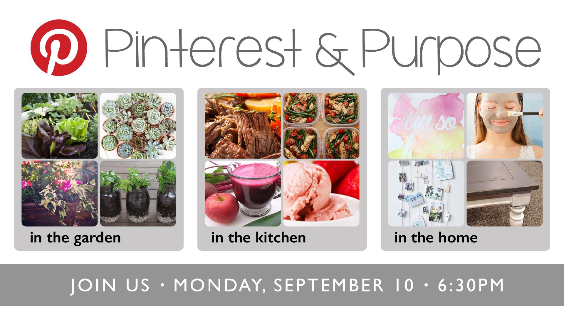 Pinterest & Purpose