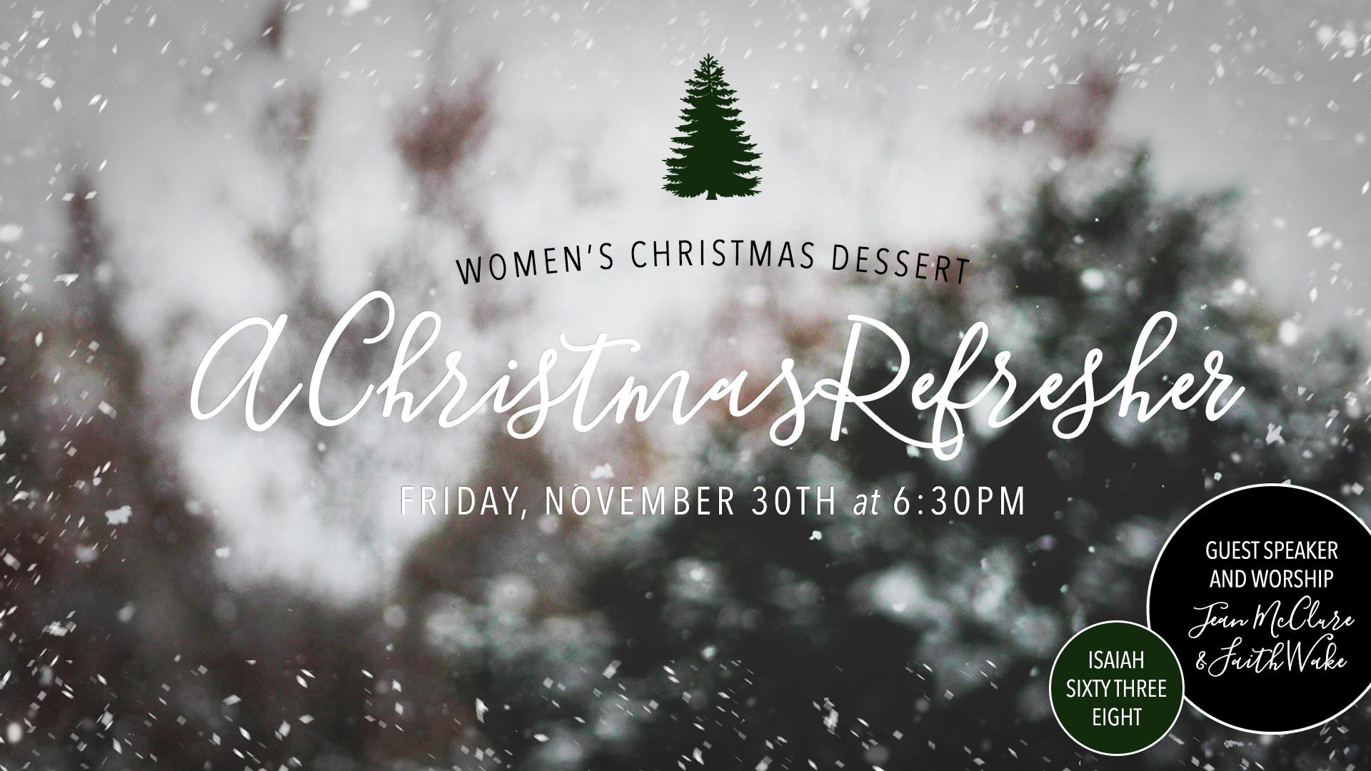 Women's Christmas Dessert