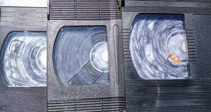 Mold Damaged VHS Tapes