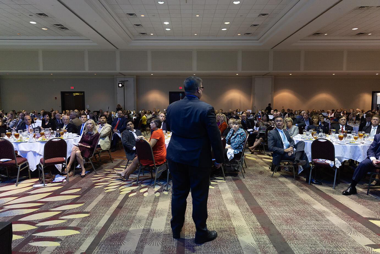 Dr. Robert McNab presenting in 2018.