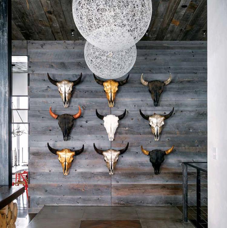 A collection of antiqued patina Bison Skulls by Owen Mortensen
