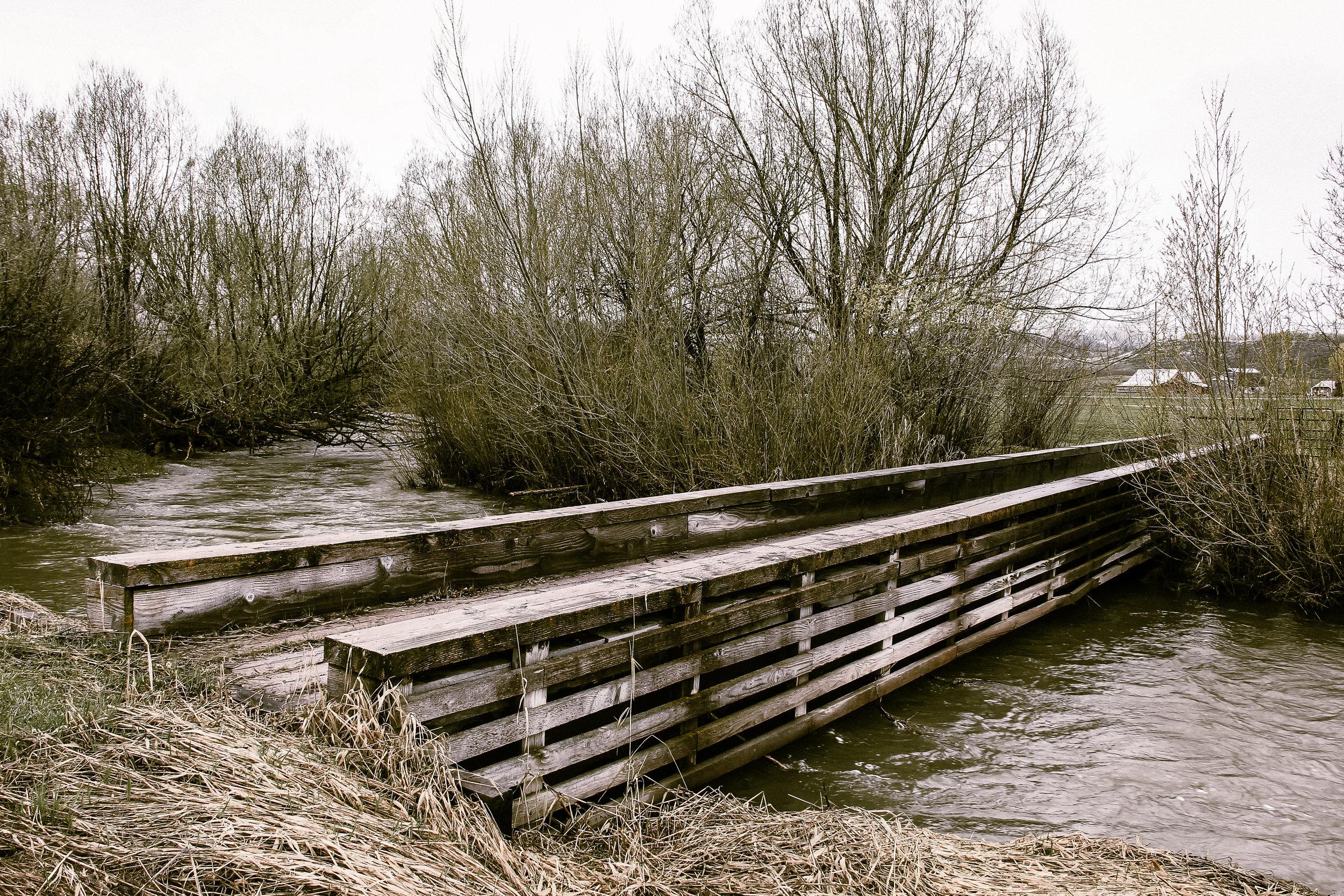 The bridge crossing Jackknife Creek