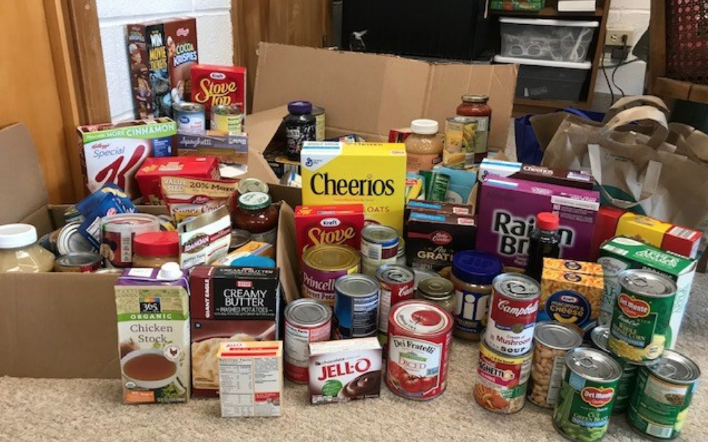 Thanks to all of our church families who participated in the Reverse Advent Devotional this Christmas season, we collected over 200 canned and boxed goods! Here's a picture of the food that will be donated to The Rocky River Assistance Program.