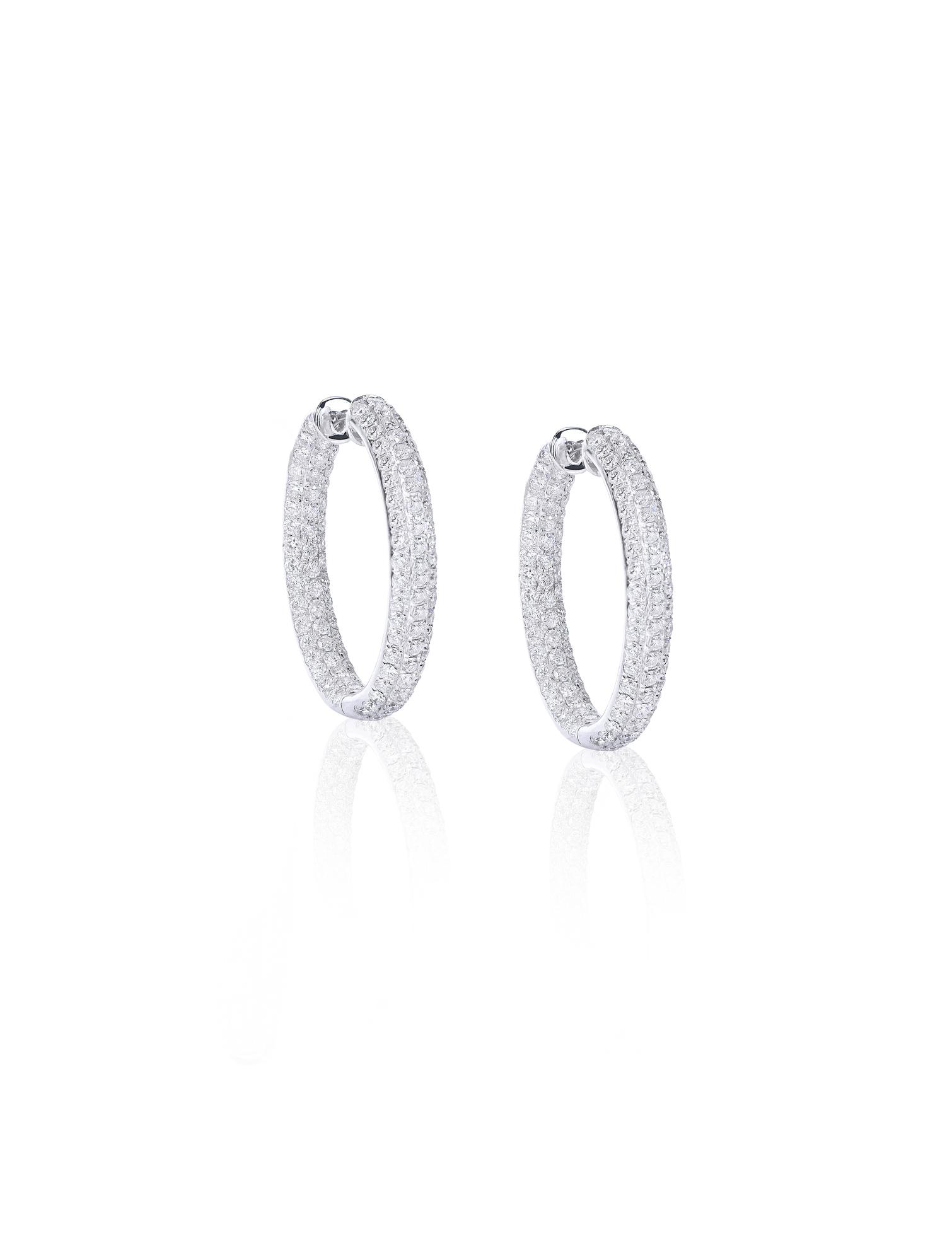 Platinum Diamond Hoops