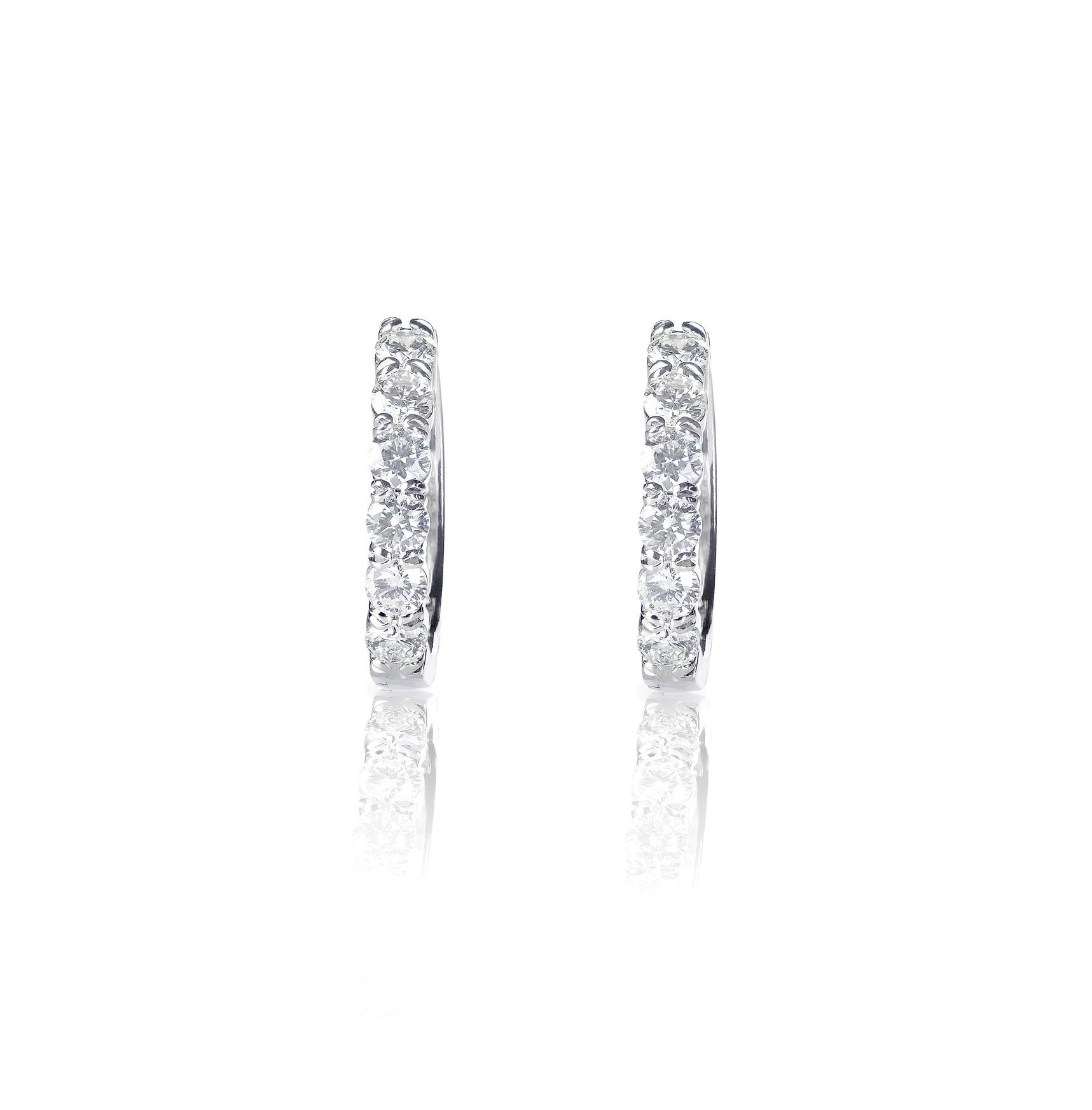 diamond channel earrings