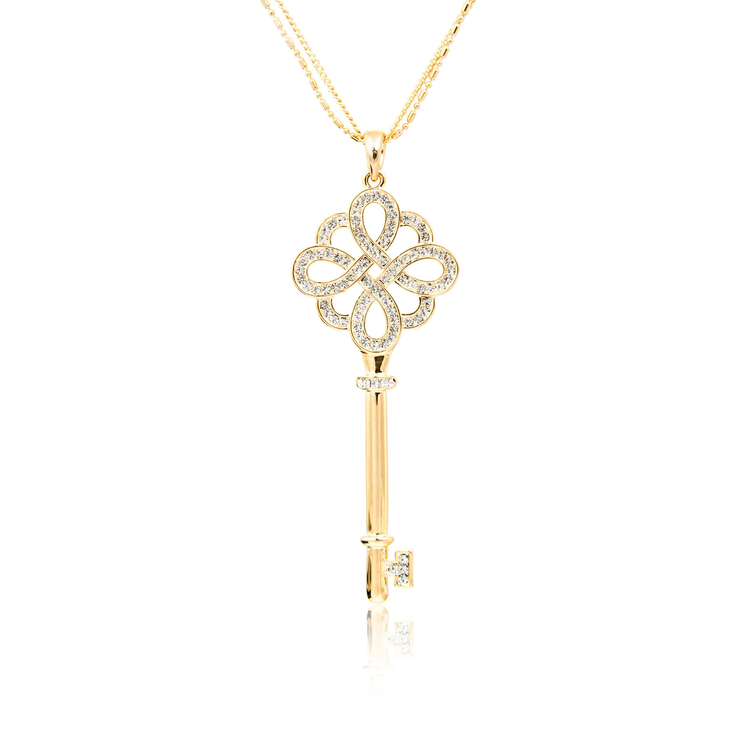 Rose Gold Diamond Key