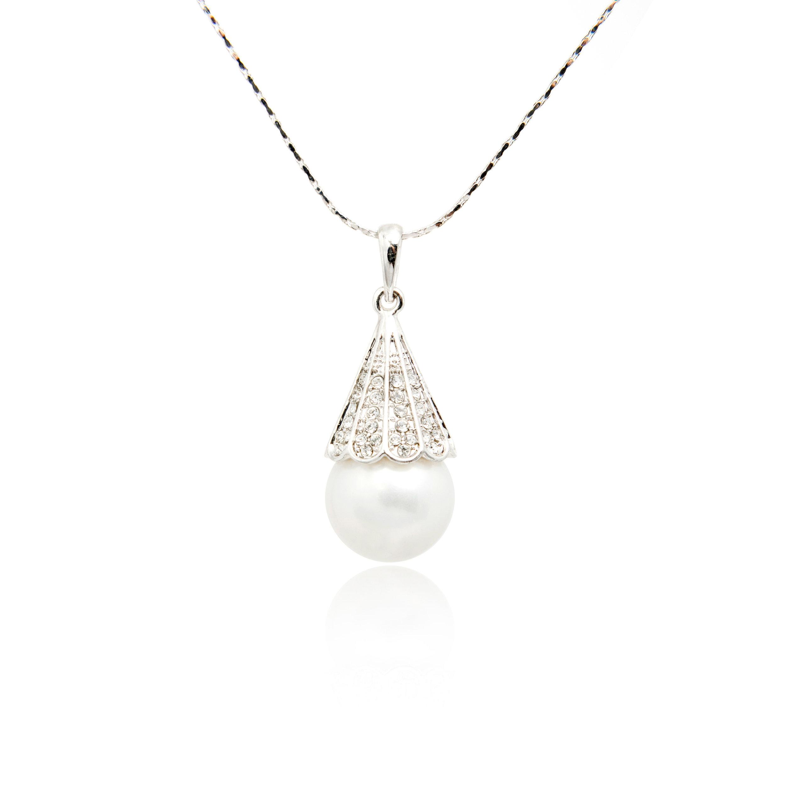 Pearl Diamond Pendant