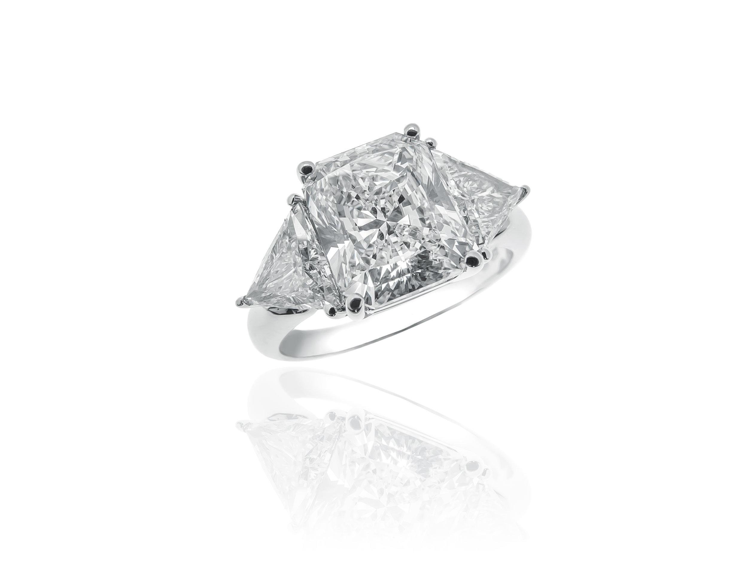 Cushion Cut and Trillium Diamond Ring