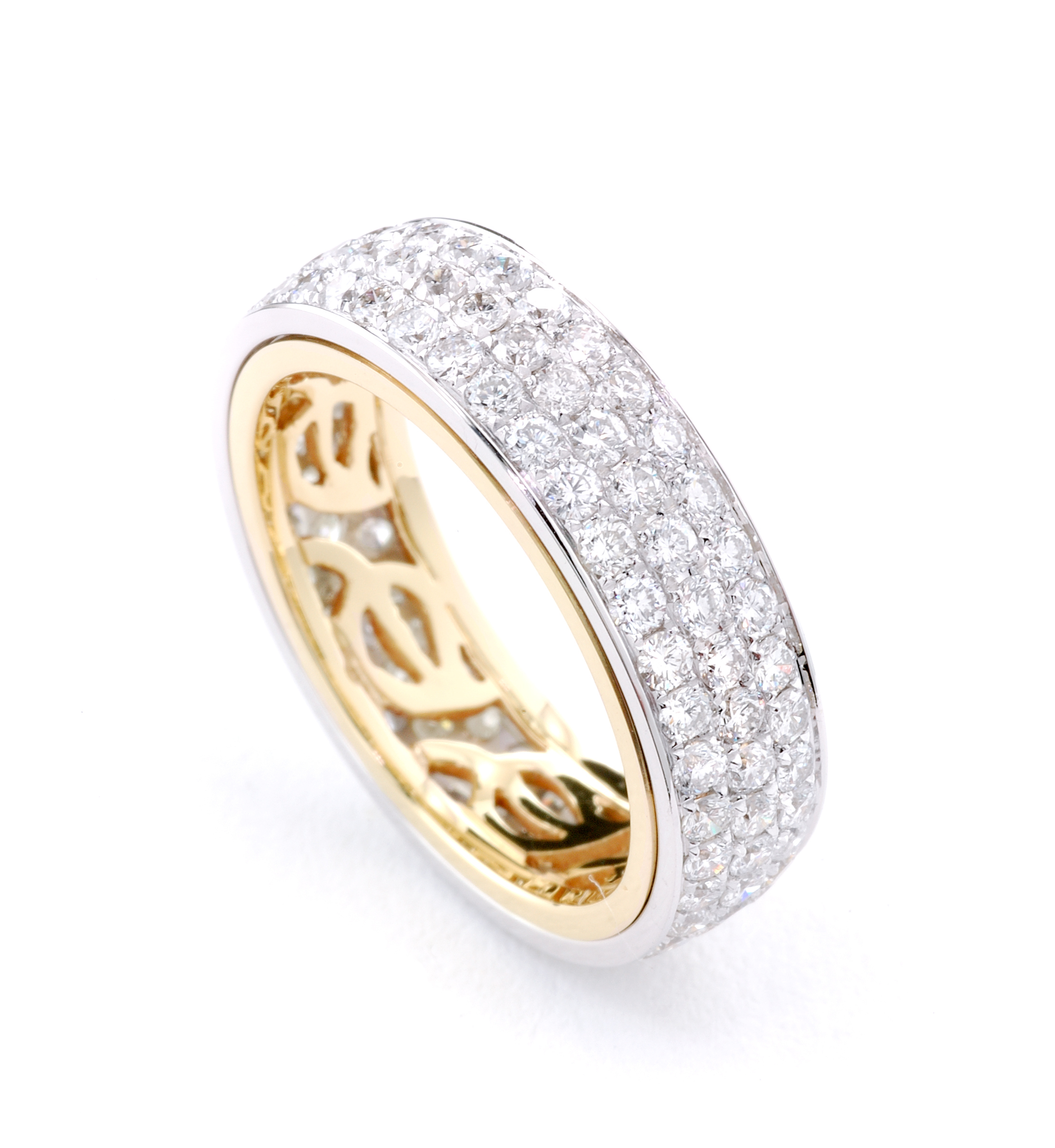 Two Pave Diamond Band