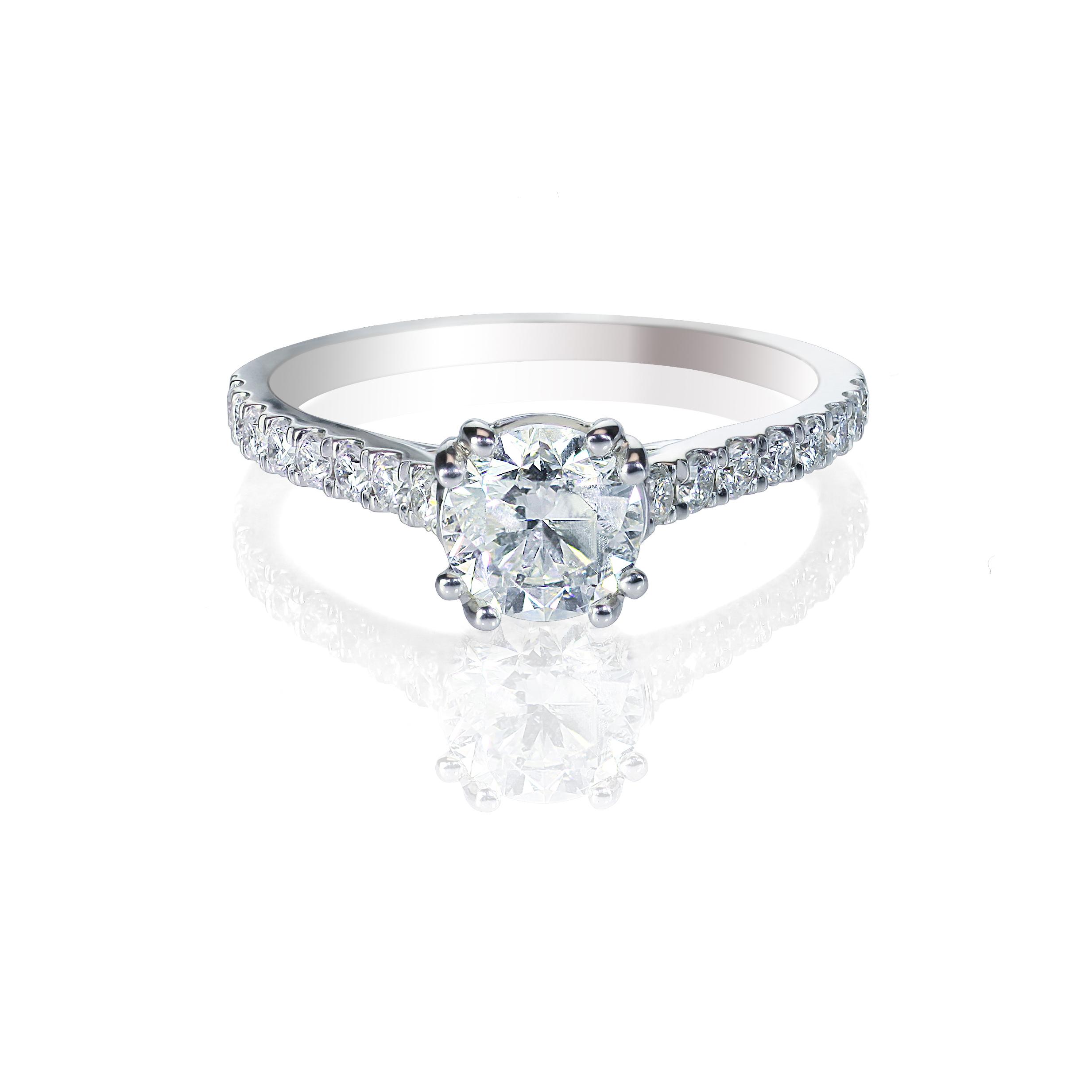 Diamond Ring -Solitare - Side Stones