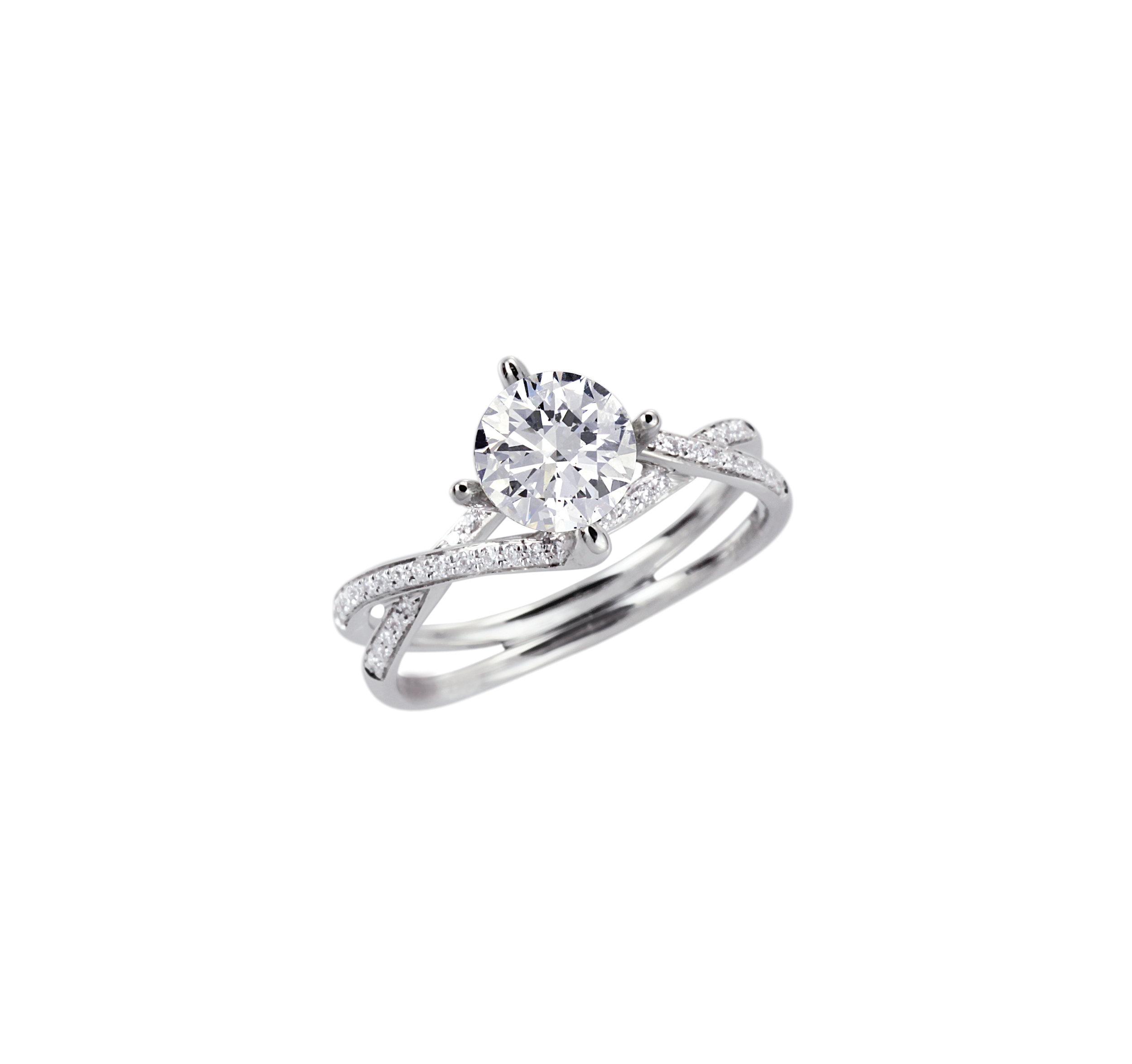 Twisting - Diamond - Engagement - Rings