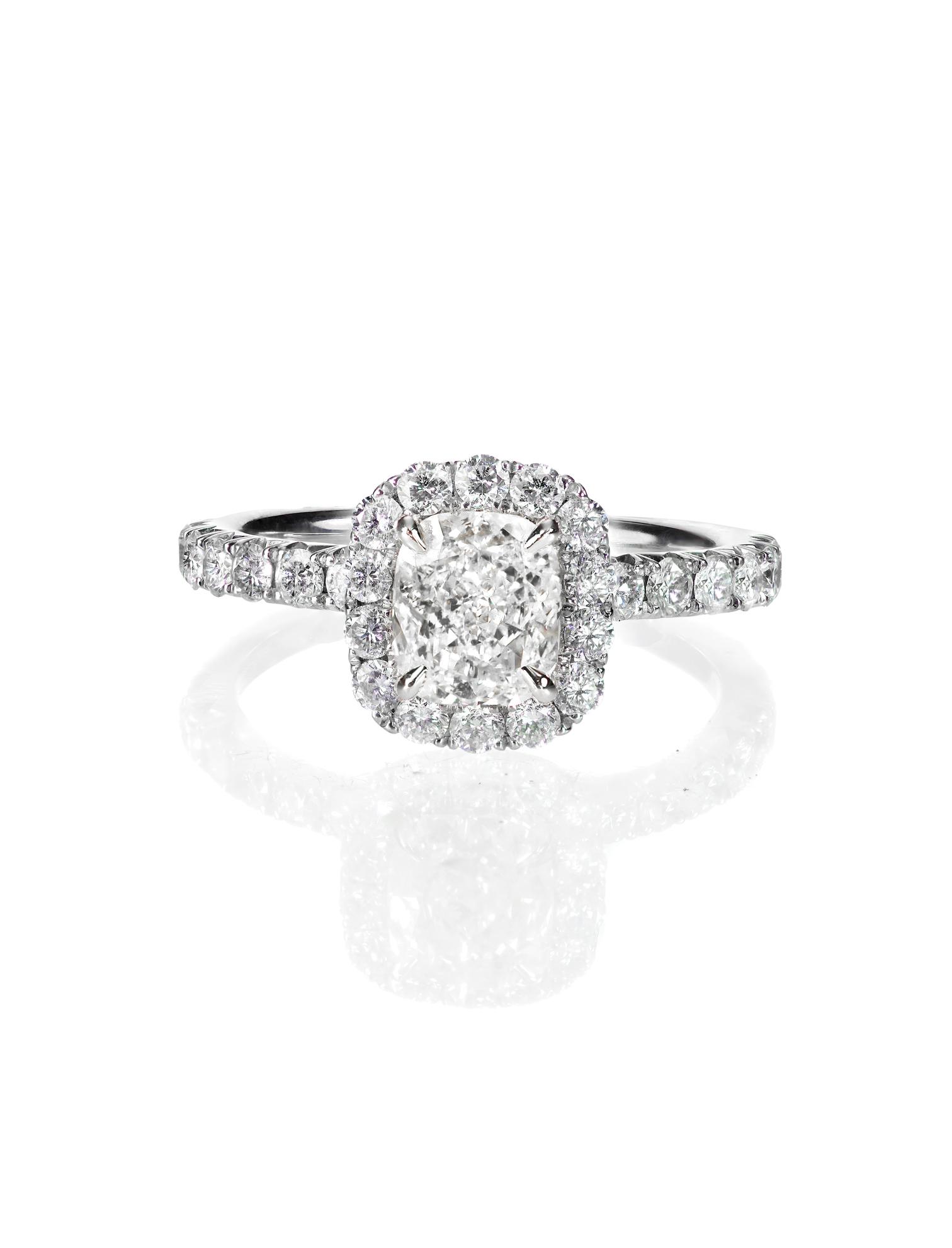Cushion Cut - Halo - Engagement Ring