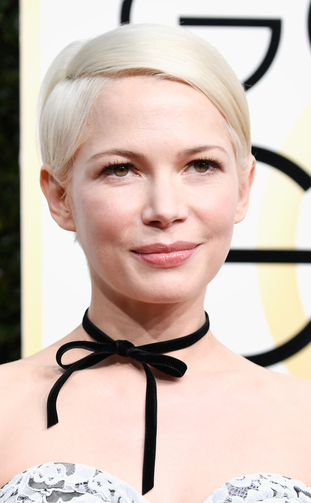 ThE MODERN TWIGGY - Twiggy's haircut of the 1960s is of course a classic, but if you want a modern spin, Michelle Williams is a perfect example to take inspiration from. A chic look, perfect for straight hair types and great for all age groups. The side sweep is what makes the look, so set the hair into a side parting and blow-dry each section in the direction you want it to sit. To add a little extra volume, like Michelle, take small sections of hair and blast hot air at the roots, before flattening the hair into the right direction.
