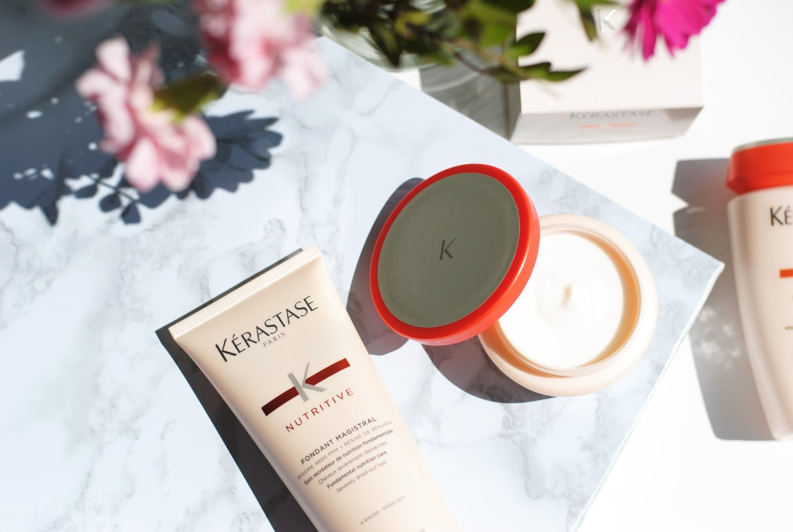 KÉrastase NUTRITIVEMasquintense - A customer favourite, Kérastase has a good selection of different hair masks to suit all different hair types and needs. However a good all-rounder for many different hair types, which can help boost hair after suffering from winter dryness is their range,Nutritive. Within this series they have, two different hair mask, one for thick and one for thin hair, which contain On-Surface Technology that envelops the hair fiber from root to tip, without giving any unwanted weight.To see how to apply a hair mask, check out:https://youtu.be/HlRhupiwRyo
