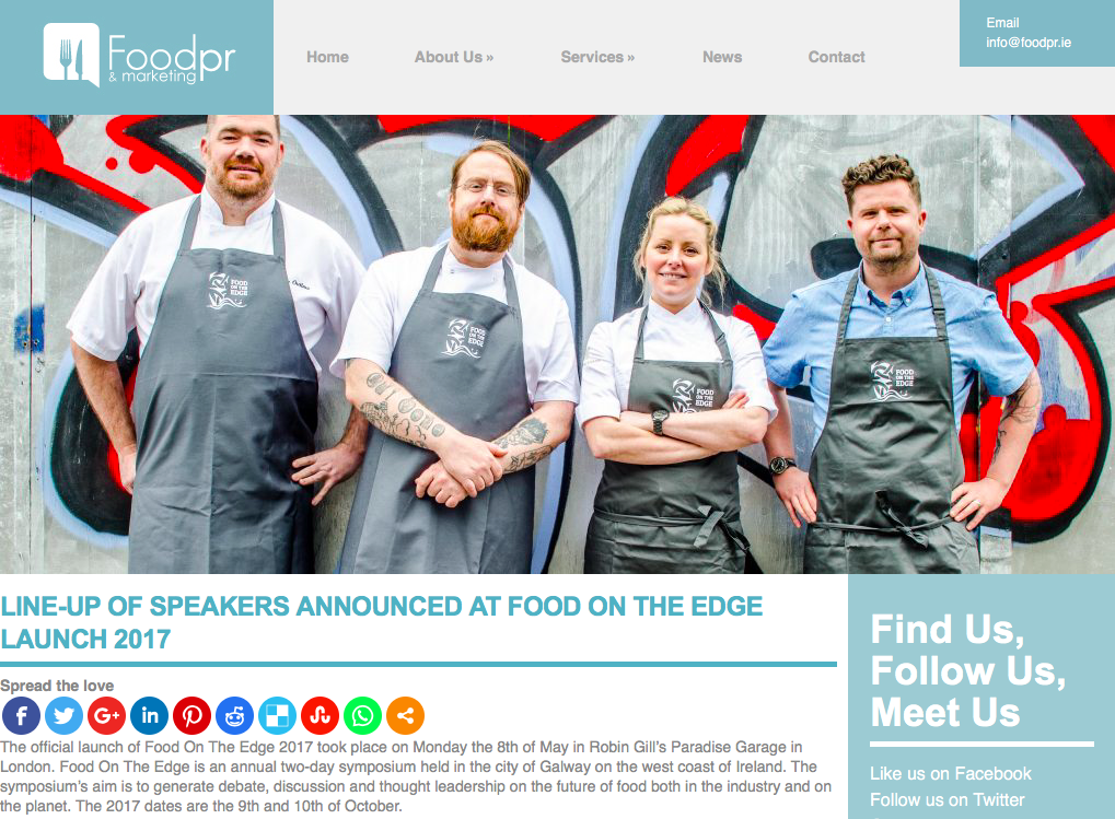 Foodpr & Marketing - Ireland -