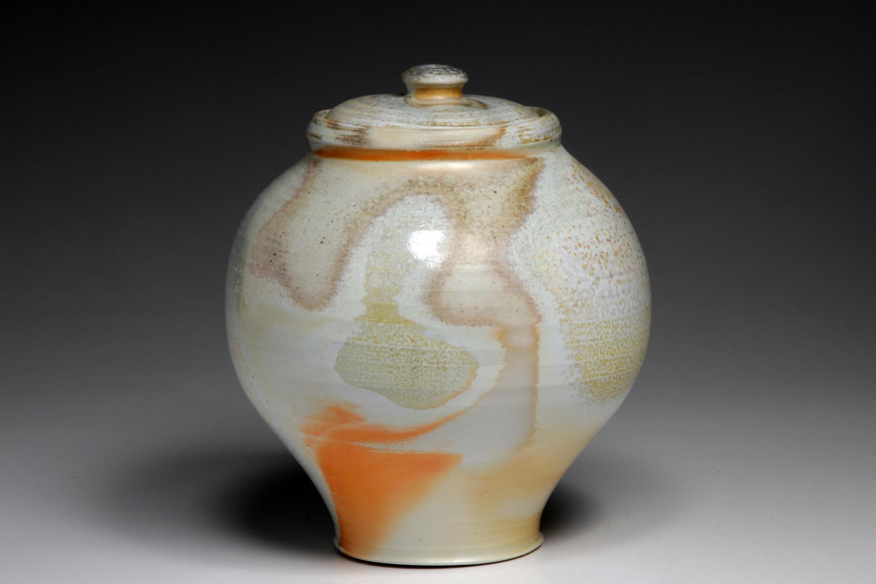 wood fired porcelain jar.