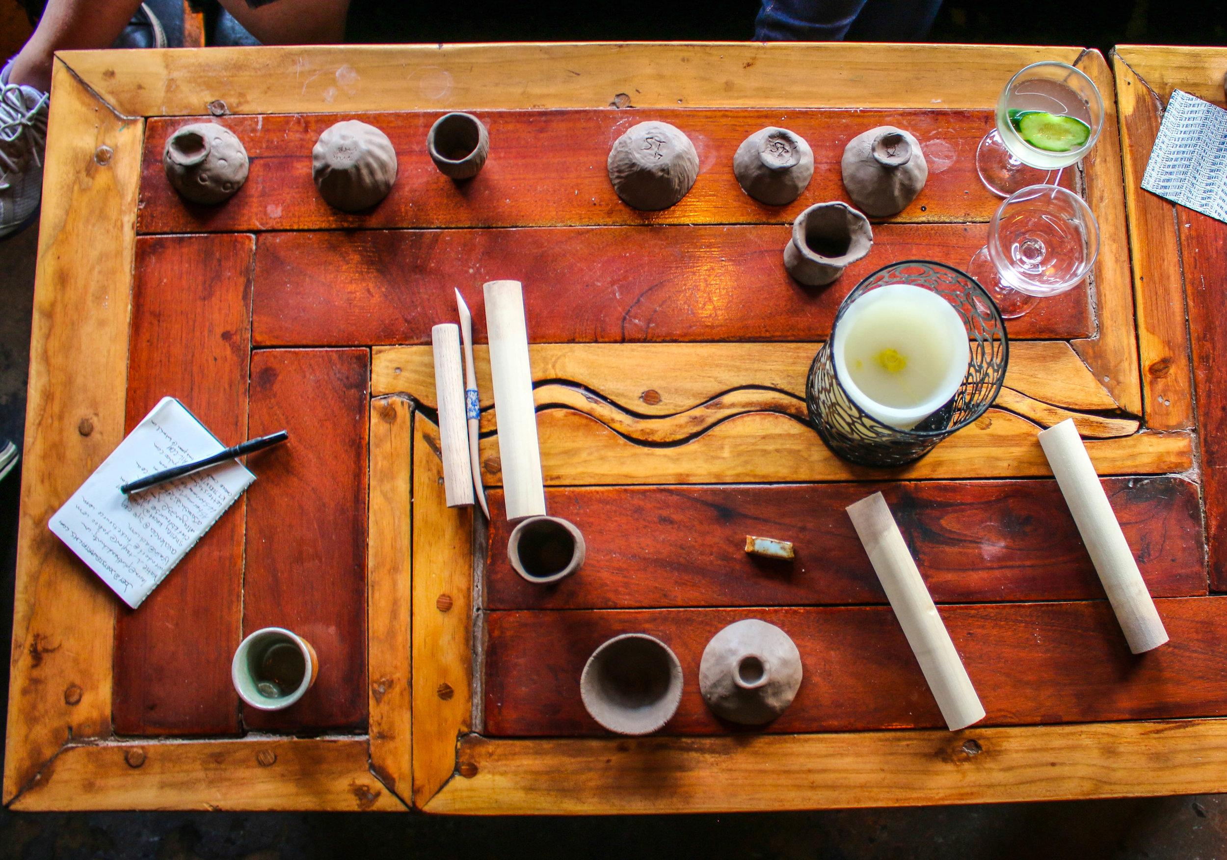 Overhead Table Pottery.jpg
