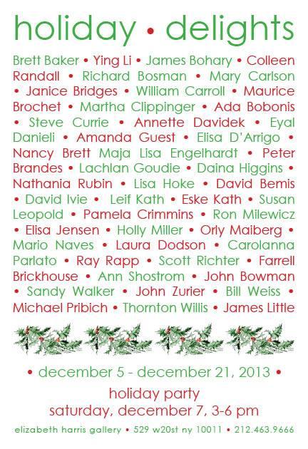Holiday Delights Elizabeth Harris Invitation 2013