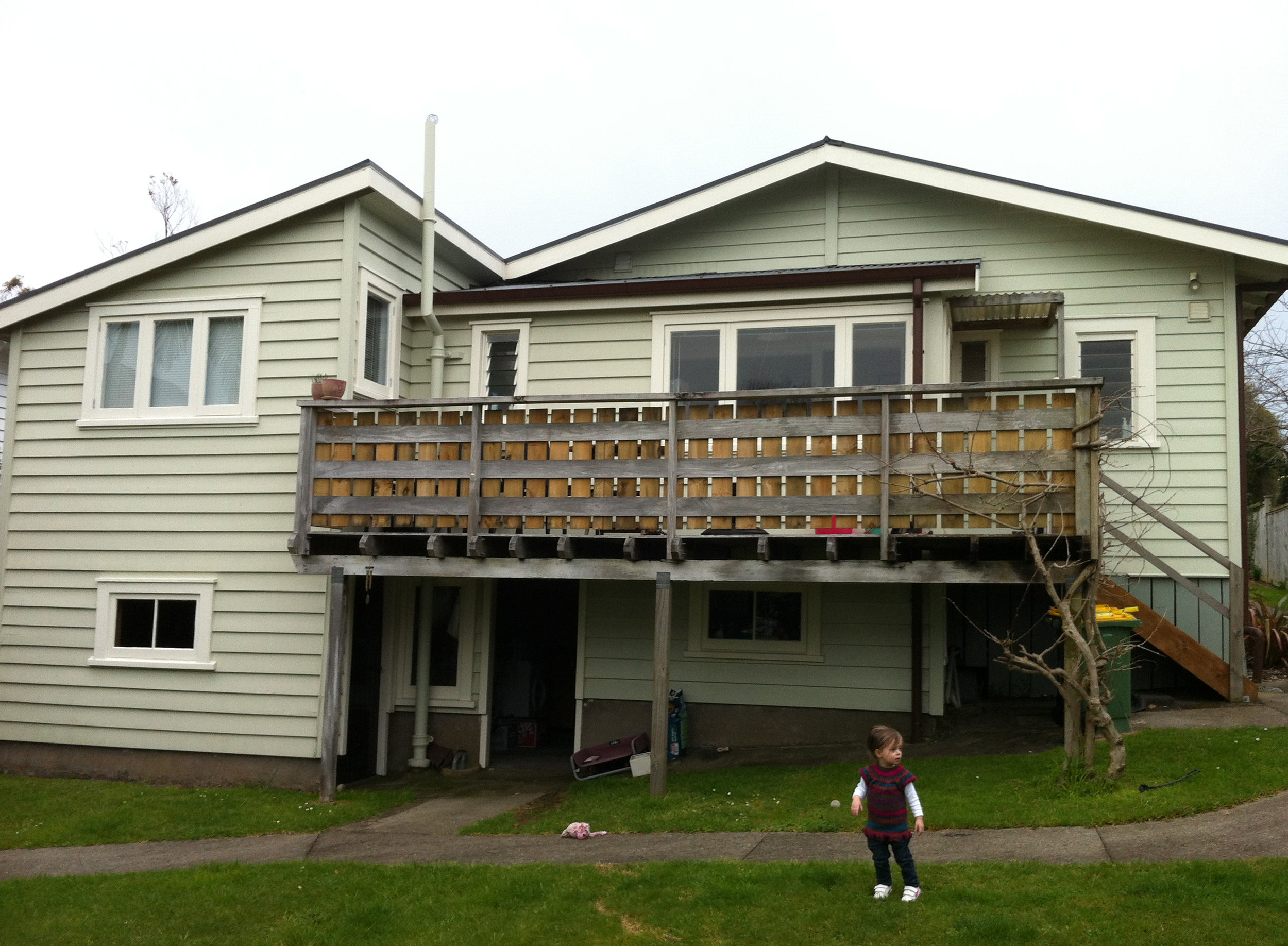 back of house prior to works