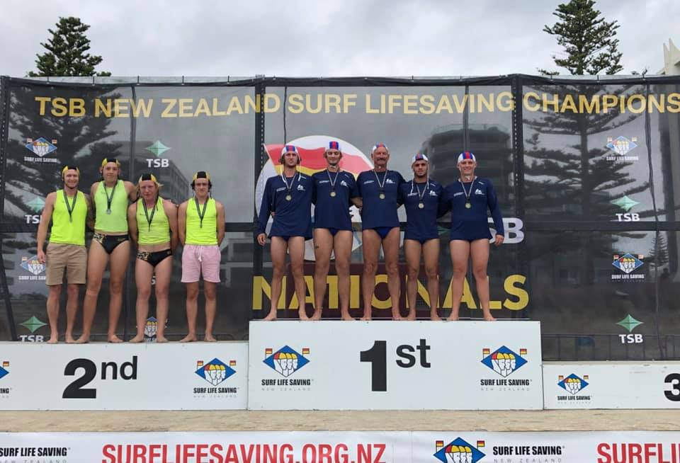 U19 Mens Surf Boat crew - short course & long course winners
