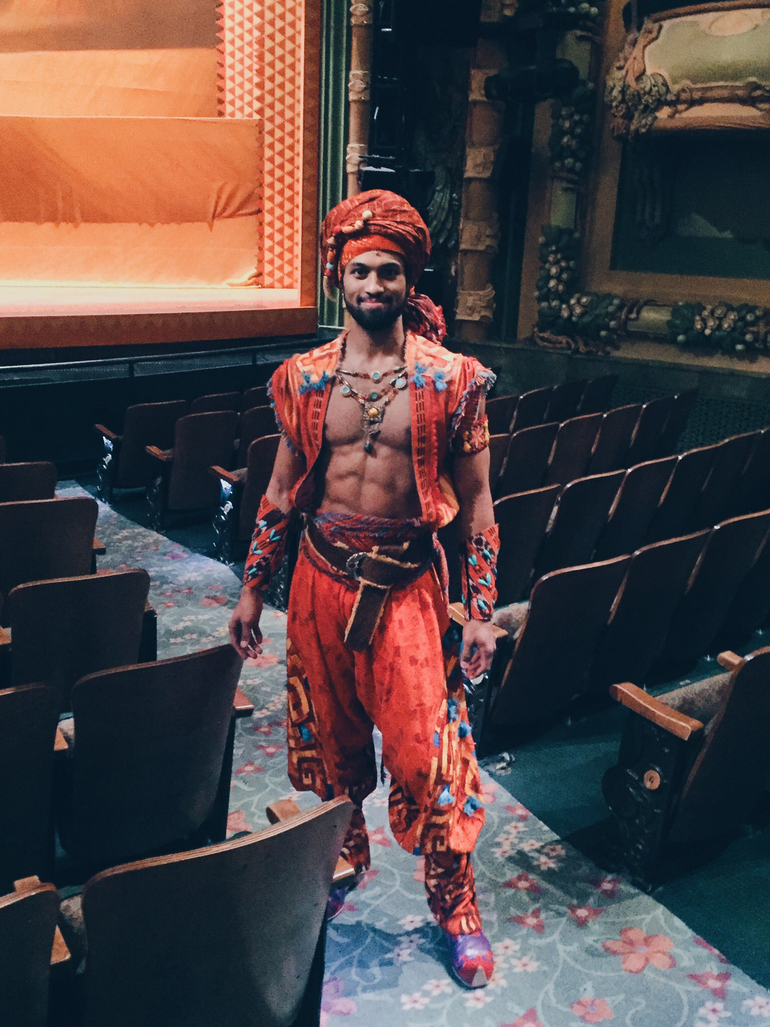Rehearsal for Adam's Broadway debut in  Aladdin  (image provided by Adam Hyndman)