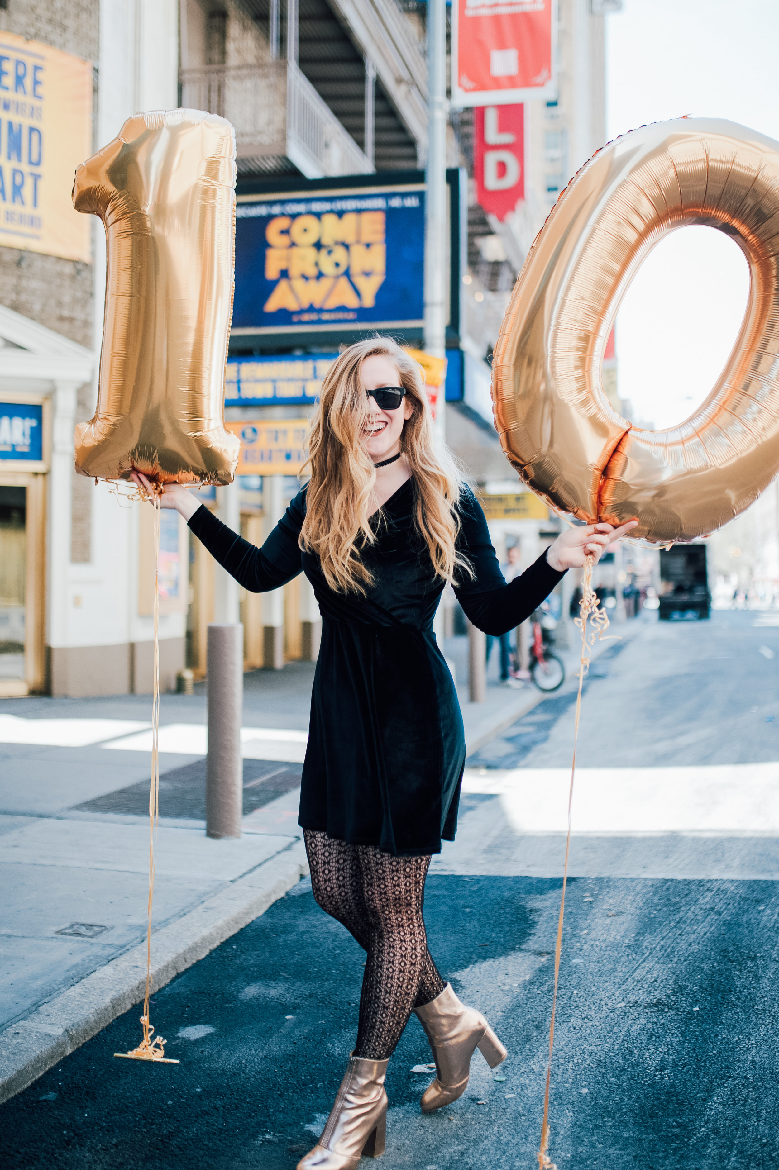 Teale celebrating hitting 10,000 followers on Instagram in May 2017. She currently has 18,000 followers (  Photography by Lauren Listor).