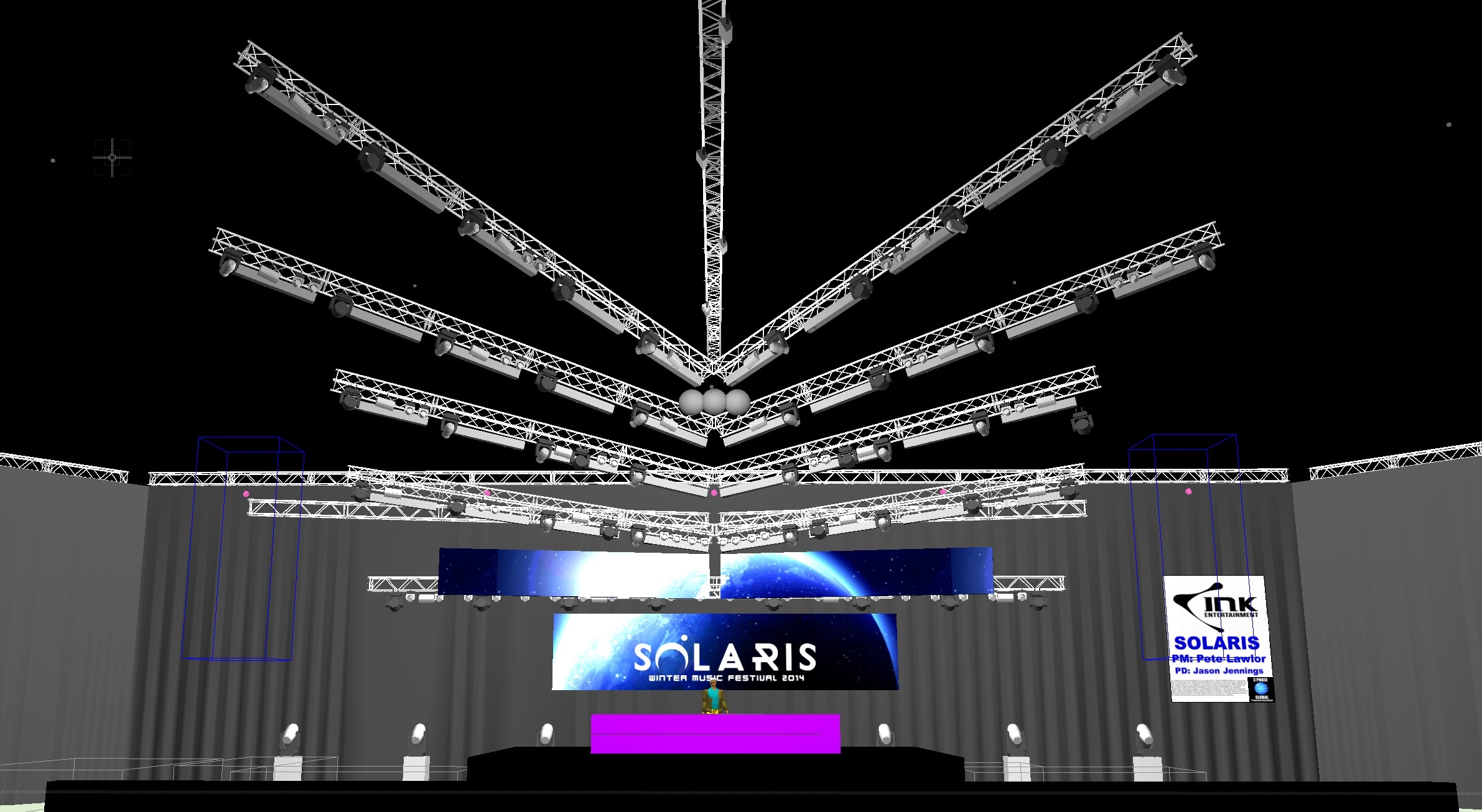 3 phase global event lighting