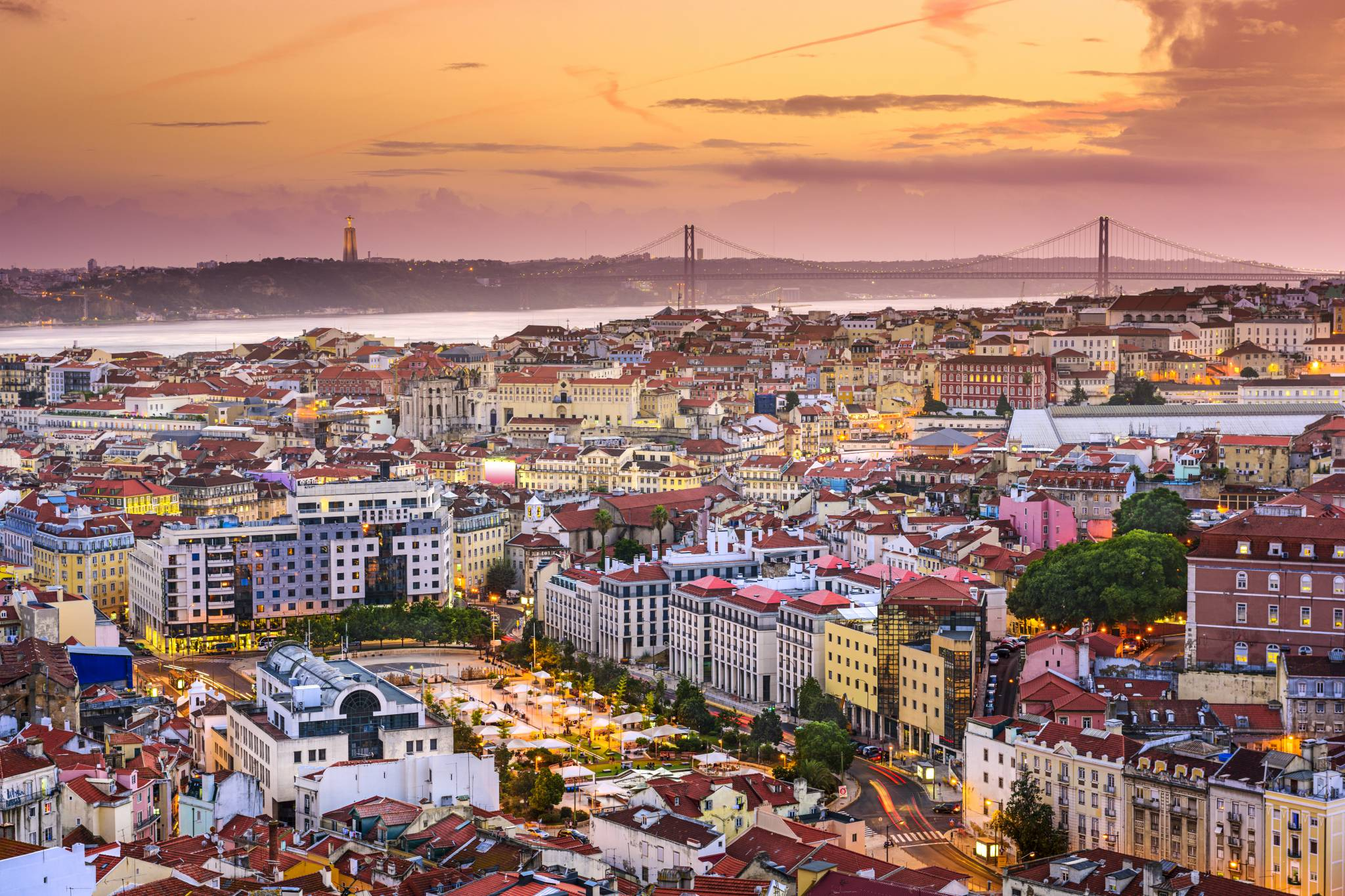 WOW! Lisbon skyline at sunset