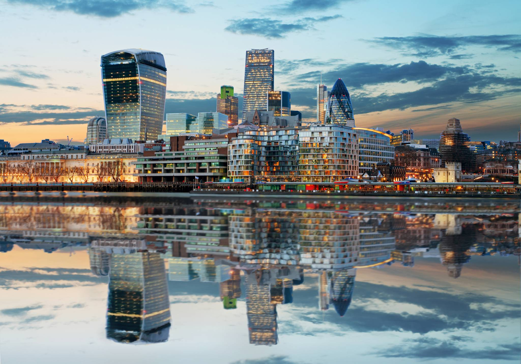 Awesome modern London skyline