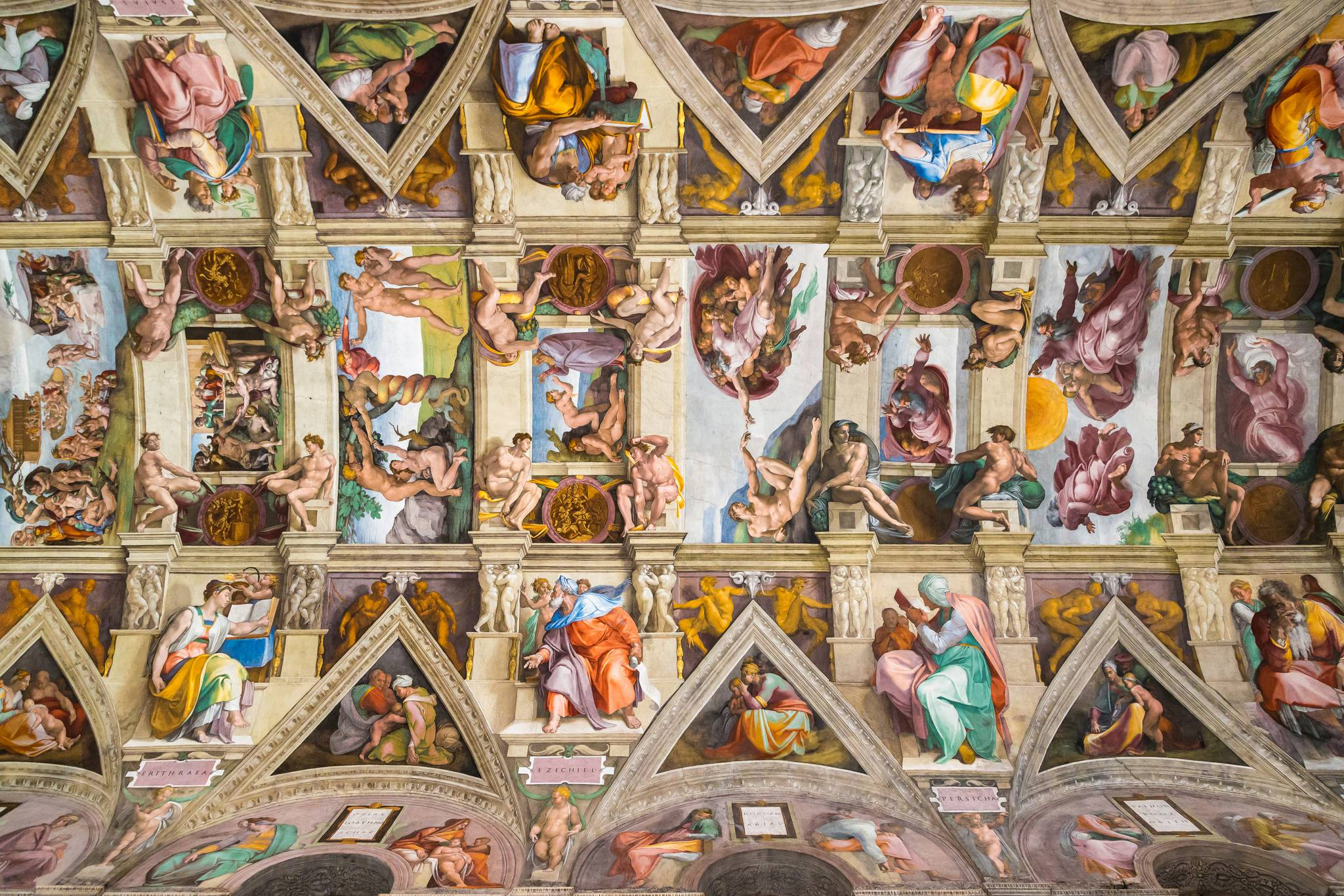 Awesome Sistine Chapel at Vatican City