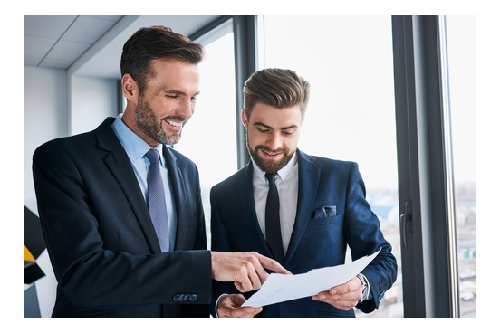 Financial Advisor Assisting Client While He is Selling a Business