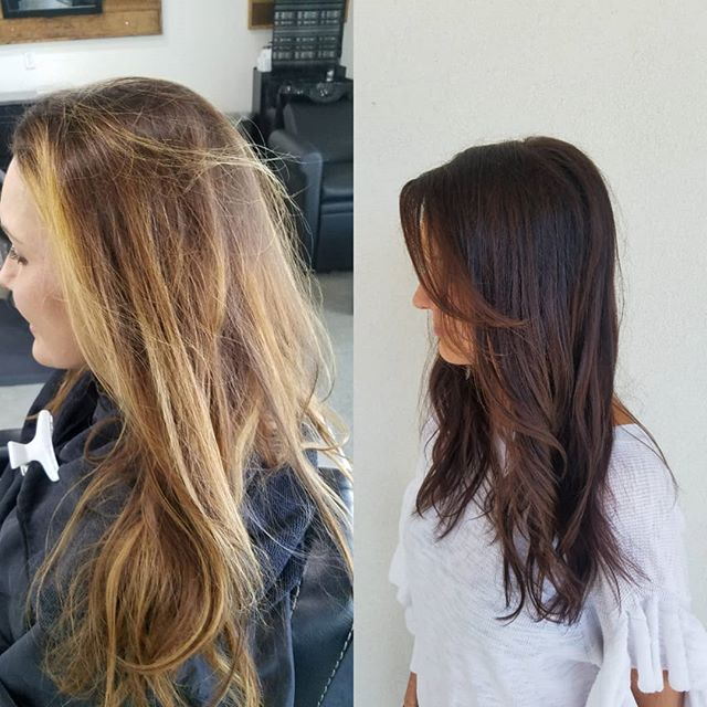 Look who is ready for fall! #brownhair