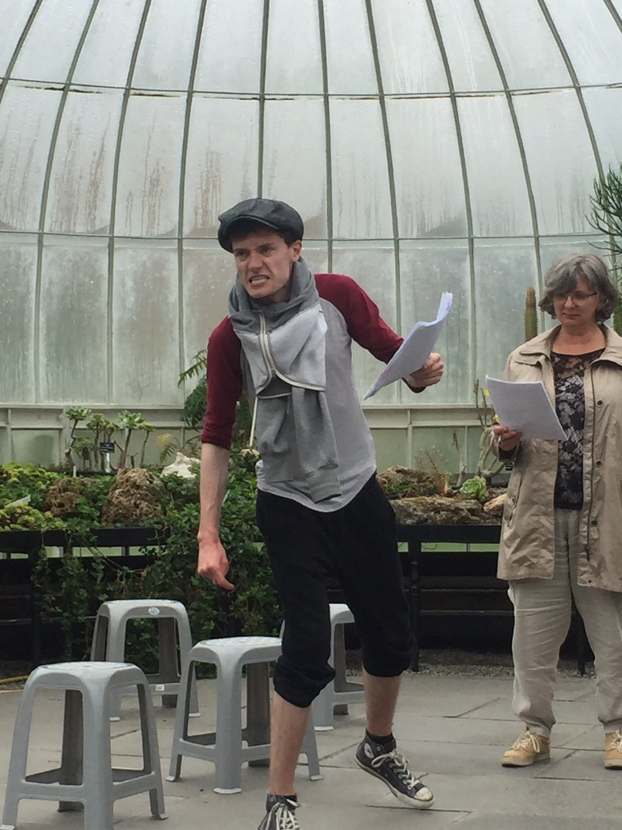 Nathan Byrne as Cornelius with Janette Foggo as Queen Lear